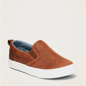 Faux-Leather Slip Ons Toddlers